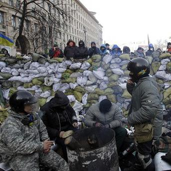 Protests are continuing in Kiev city centre. (AP)