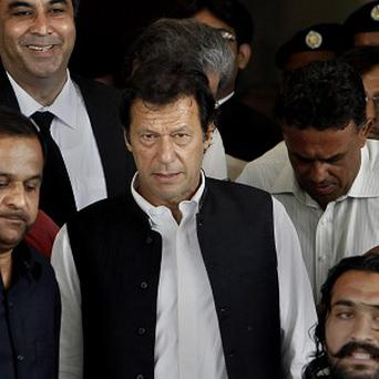 The Pakistani Taliban named ex-cricketer Imran Khan as one of five figures wanted to represent them in peace talks with the government, a statement said (AP)