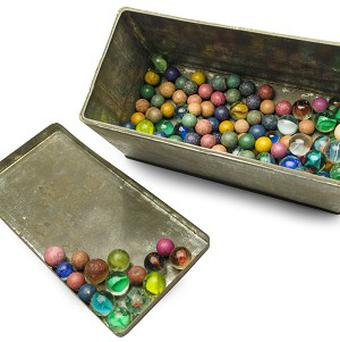 Anne Frank gave her marbles to a friend for safe keeping (AP Photo/Anne Frank House Amsterdam, Diederik Schiebergen)