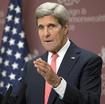 US Secretary of State John Kerry will meet Japan's foreign minister Fumio Kishida for talks (AP)