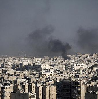 Syrian government planes have attacked the city of Aleppo