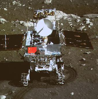 China's Jade Rabbit moon rover ran into problems on January 25 as it was shutting down in preparation for the lunar night (AP)