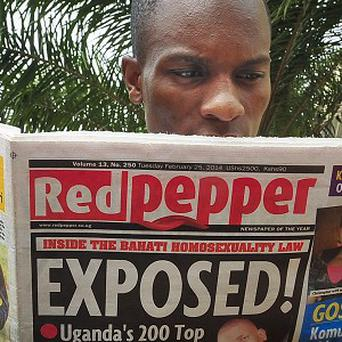 The Red Pepper newspaper names what it calls Uganda's '200 top' homosexuals (AP Photo/Stephen Wandera)
