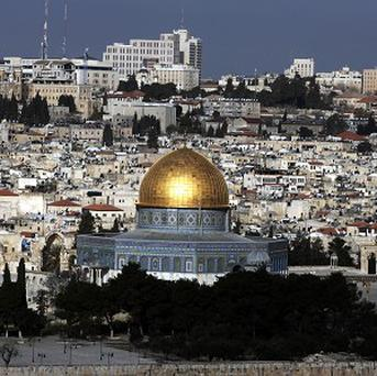 The Dome of the Rock in the centre of the Temple Mount in Jerusalem