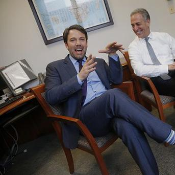 Ben Affleck, left, and US Special Envoy for the Great Lakes Region of Africa Russ Feingold (AP Photo/Charles Dharapak)