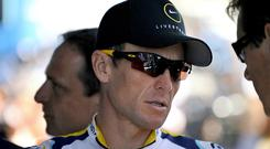 Disgraced Lance Armstrong
