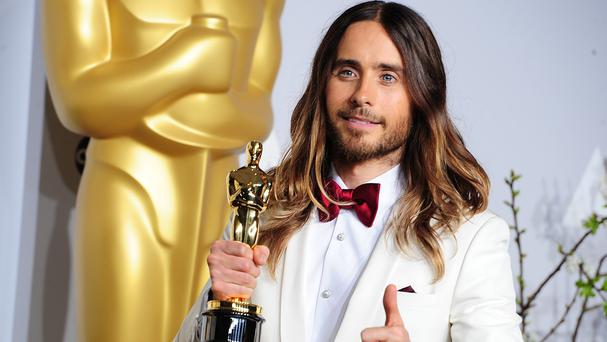 Jared Leto with his best supporting actor Oscar