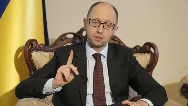 Ukrainian prime minister Arseniy Yatsenyuk said it is vital that Crimea stays part of Ukraine (AP)