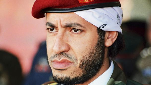 Al-Saadi Gaddafi has been extradited from Niger to Libya (AP)