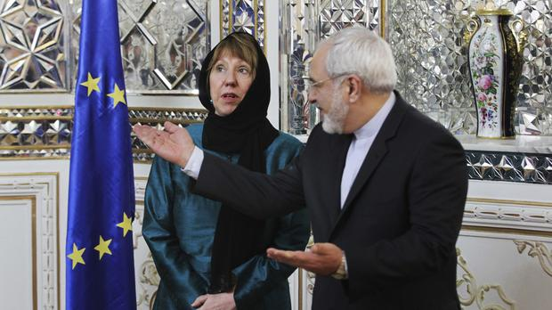 Catherine Ashton has been in Tehran for meetings with Iranian officials on negotiations over the country's nuclear programme. (AP Photo/Vahid Salemi)
