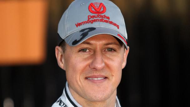 Michael Schumacher was taken to hospital after a ski crash in the French resort of Meribel in December