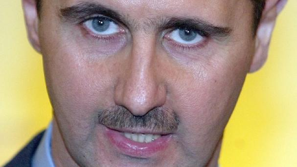 Syrian president Bashar Assad has visited displaced citizens at a shelter in Adra, north-east of the capital Damascus