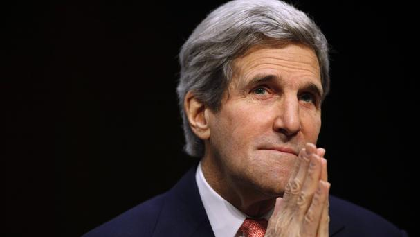 Secretary of State John Kerry is to meet the Russia foreign minister in London on Friday (AP)