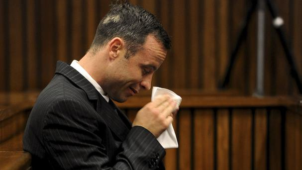 Oscar Pistorius in court in Pretoria, South Africa (AP)
