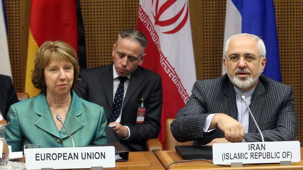 European Union foreign policy chief Catherine Ashton waits for the start of closed-door nuclear talks with Iran in Vienna, Austria. (AP)