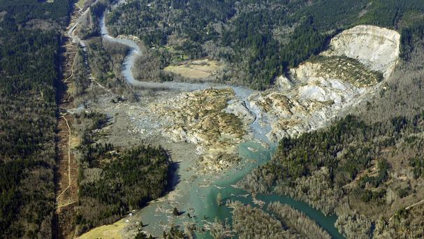 The aftermath of the massive Washington mudslide (AP)
