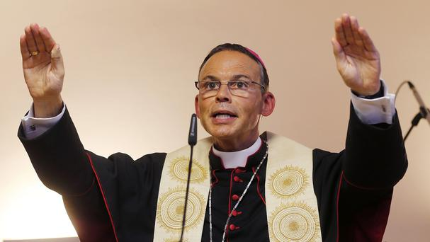 The pope has removed Franz-Peter Tebartz-van Elst from his post as bishop of Limburg (AP)