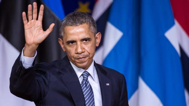 US politicians want to get a bill to Barack Obama's desk that would provide a billion dollars in loan guarantees to Ukraine (AP)