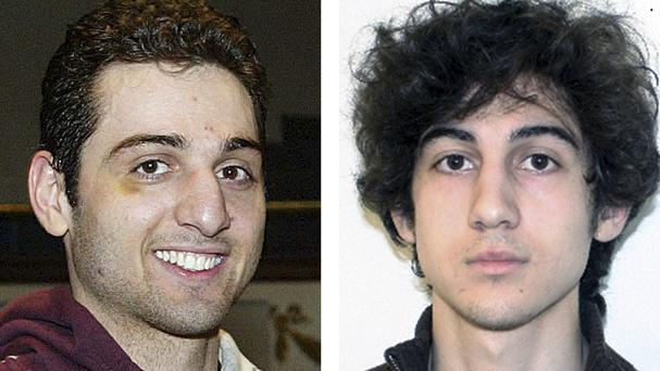 The FBI has denied a claim made by lawyers for Boston Marathon bombing suspect Dzhokhar Tsarnaev that his brother and fellow suspect Tamerlan was asked by the FBI to be an informant. (AP/Lowell Sun and FBI)