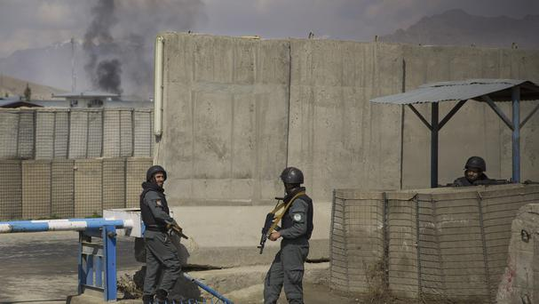 The attack on the electoral commission comes just days ahead of the Afghan general election (AP)