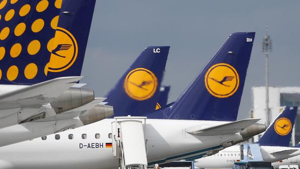 Lufthansa is cancelling flights because of a strike. (AP)