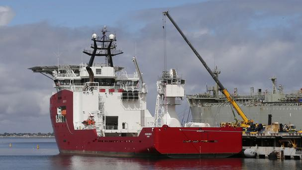 The Australian navy ship Ocean Shield has joined the search for the missing Malaysia Airlines plane's black box (AP)