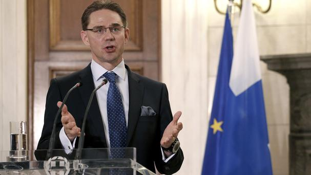 Finland's prime minister Jyrki Katainen will resign in June. (AP)