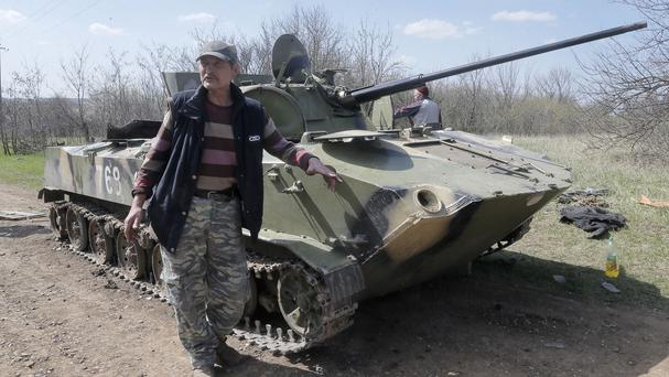 Ukraine is hoping to calm hostilities with its neighbour Russia. (AP)
