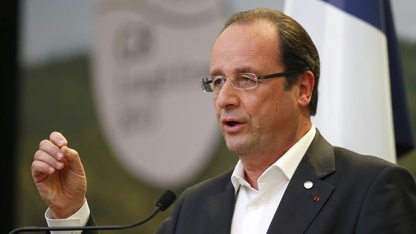 President Francois Hollande welcomed home four freed French journalists