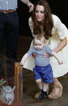 Kate Middleton introduces her eight-month-old son George to a bilby