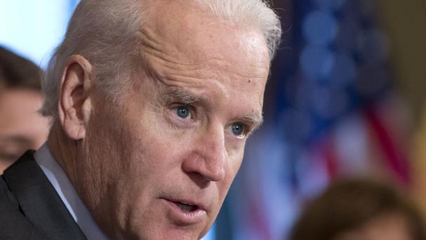 Joe Biden has a number of meetings in Kiev on Monday and Tuesday (AP)