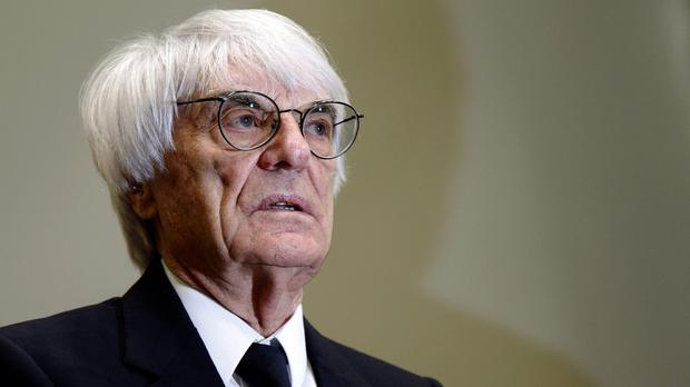 Formula One boss Bernie Ecclestone arrives at the regional court in Munich, Germany (AP)