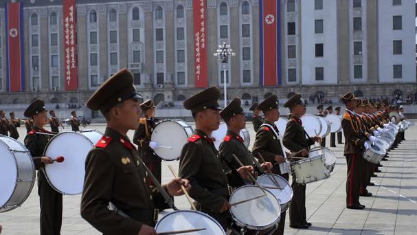 A US tourist has been detained in North Korea as events are held to mark the anniversary of the founding of the Korean People's Army (AP Photo/Jon Chol Jin)