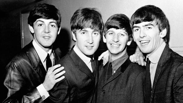 The Fab Four, left to right, Paul McCartney, John Lennon, Ringo Starr and George Harrison