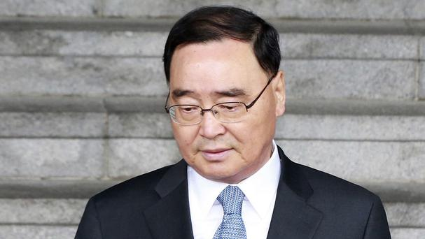 South Korean Prime Minister Chung Hong-won has resigned over the government's handling of a ferry sinking