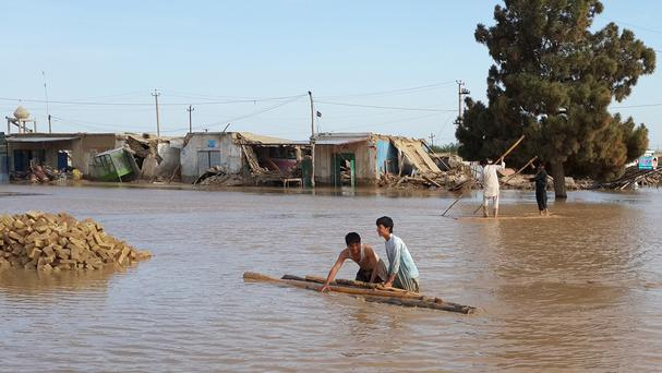 Floods have hit the Jawzjan province in northern Afghanistan (AP)