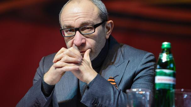 Hennady Kernes, the mayor of Kharkiv, had surgery after being shot (AP)