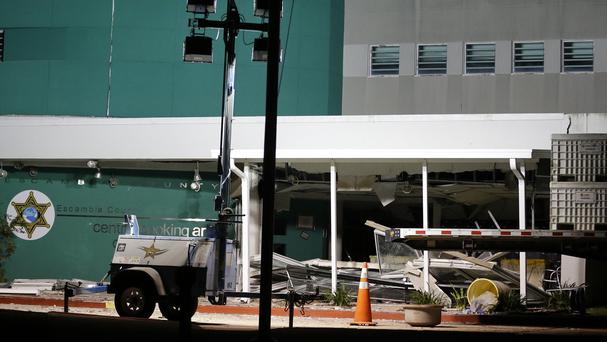 An explosion caused damage to the Escambia County Jail in Pensacola, Florida (AP)