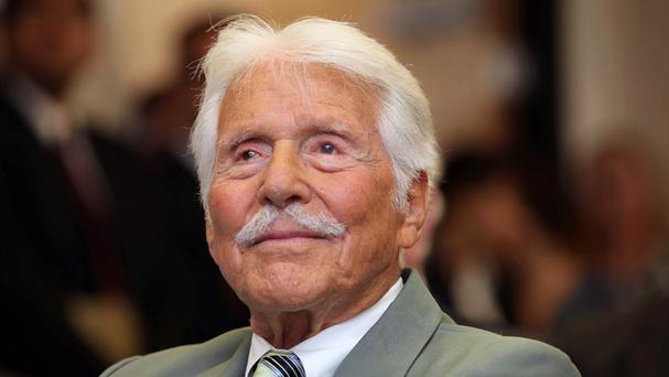 Efrem Zimbalist Jr, who has died in California aged 95 (AP)