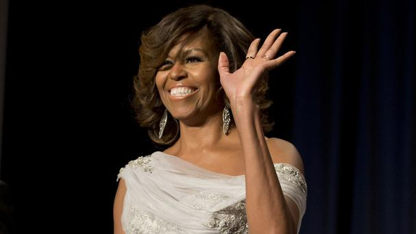 First lady Michelle Obama opened the new Anna Wintour Costume Centre