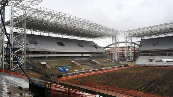 A workman has died during building work at the Arena Pantanal