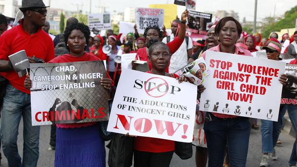 Women in Nigeria urge the government to rescue the kidnapped schoolgirls
