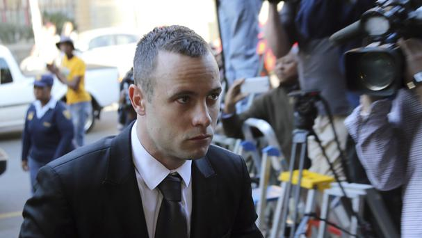 Oscar Pistorius arrives at court in Pretoria, South Africa (AP)