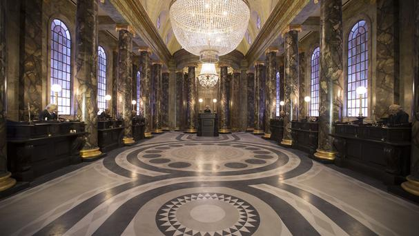 This computer image shows the setting for the Gringotts ride that will be the centrepiece for a Harry Potter-themed area at Universal Orlando Resort theme park in Florida (AP/NBC Universal)