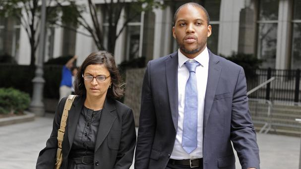 US defence lawyers Sabrina Shroff and Jerrod Thompson Hicks, who are representing Abu Hamza at his terror trial (AP)