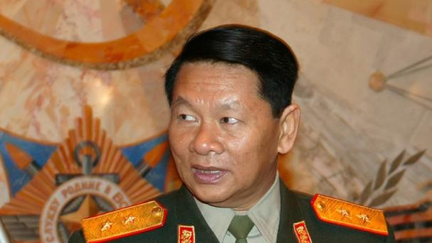 Laos defence minister Douangchay Phichit (AP)