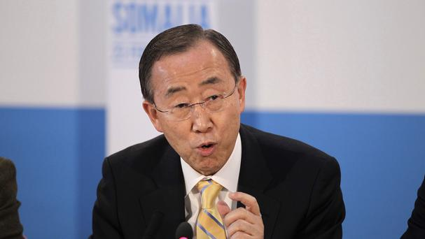 Ban Ki-moon said that preventing people from access to safe water denies them a 'fundamental right'