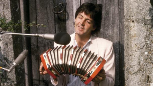 Sir Paul McCartney pictured in 1979 in the new book by legendary guitarist Laurence Juber (AP/Dalton Watson Fine Books, Laurence Juber)