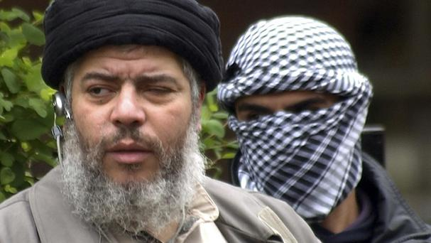Abu Hamza, pictured in London in 2004, has been found guilty of terror charges (AP)