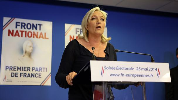 Far right party National Front leader Marine Le Pen